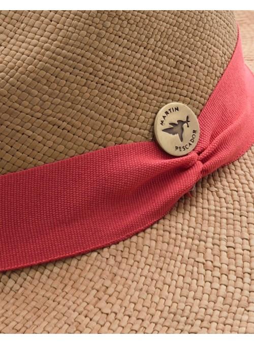 Sombrero Panamá Fino Habano Cinta Salmón
