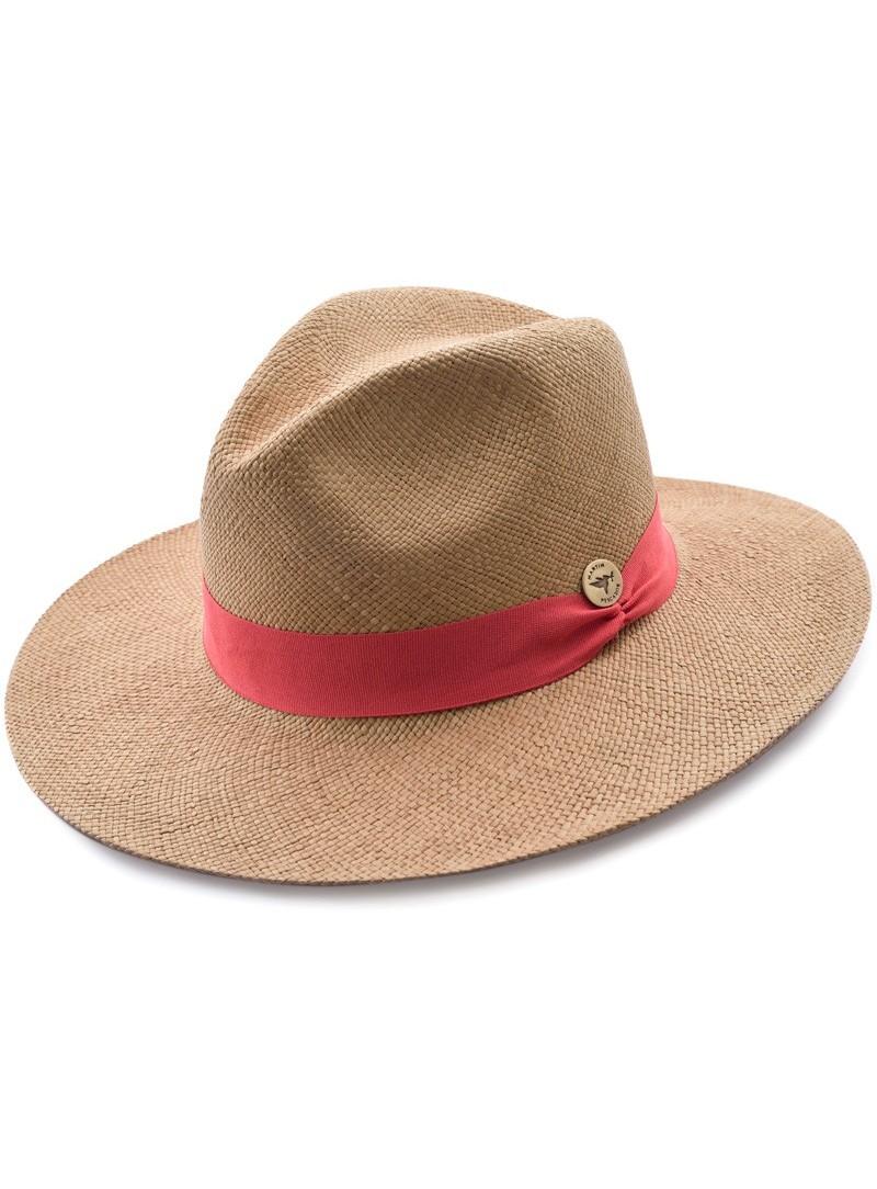 Chapeau Panama Fine Havane Bande Saumon