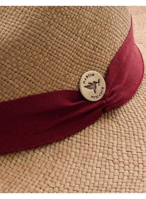 Sombrero Panamá Fino Habano Cinta Rojo Malbec