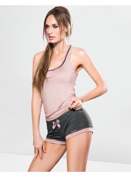 Pyjama short, débardeur dos nageur