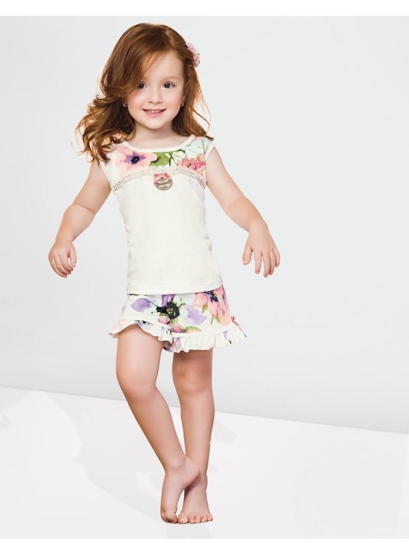 Pyjama Fille estampé à coordonner avec Ref. 7650